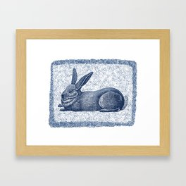 Rabbit print, Vintage Rabbit, Animal Wall Art Framed Art Print