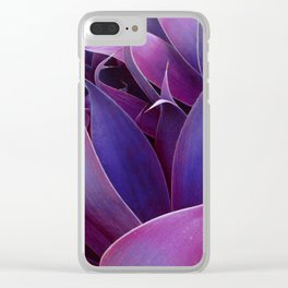 Leaves Abstract Magenta Pink Purple Clear iPhone Case