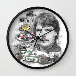 Keke Rosberg Wall Clock