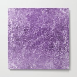 Amethyst Rock Abstract Metal Print
