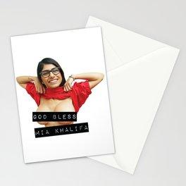 God Bless Mia Khalifa Stationery Cards