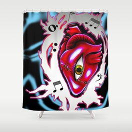 Music can electrify your life  Shower Curtain