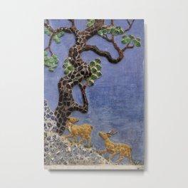buddhist mosaic Metal Print