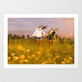 Wind. Art Print