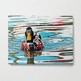 Lucky Duck Metal Print