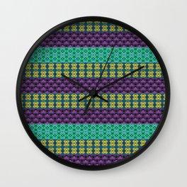 Mardi Gras Colors Wall Clock