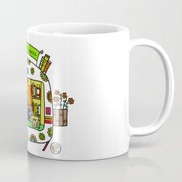 cute caravan foodtruck Coffee Mug