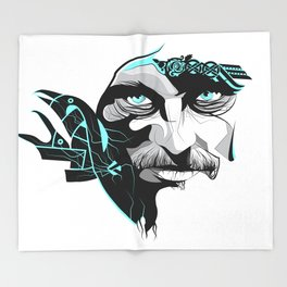 King Ragnar Throw Blanket