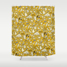 Filthy Lunch Dance Party Shower Curtain