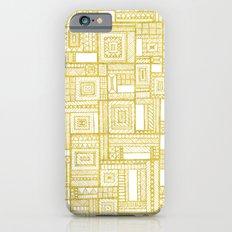 Golden Doodle patchwork iPhone 6s Slim Case