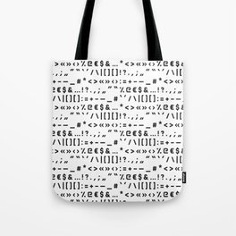 Typography Special Characters Pattern #1 Tote Bag