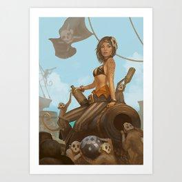 Jacquotte the monkey queen Art Print