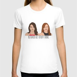 Tinamy Tina Fey and Amy Poehler Bitches Get Stuff Done T-shirt