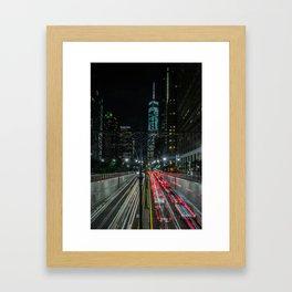 The Speed of Light Framed Art Print