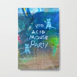 Vote Acid Mouse Party Metal Print