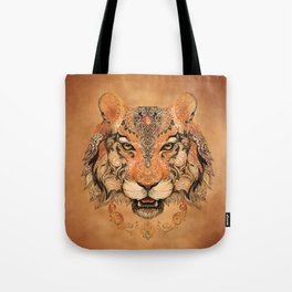 Indian Tiger Tattoo Tote Bag