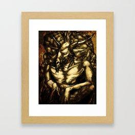 HORNED GOD Framed Art Print