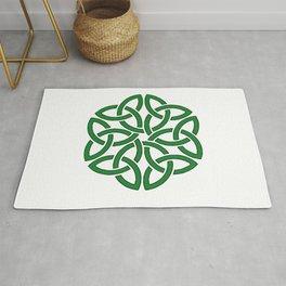 Shamrock Celtic Art Knotwork Design Rug