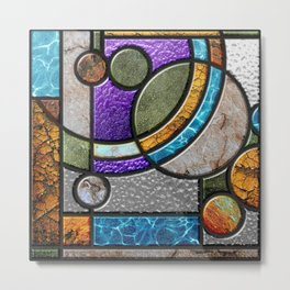 Stained Glass, panel 1 of 2 Metal Print