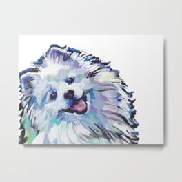 AMERICAN ESKIMO Dog Pop Art Metal Print