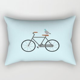 Pigeon Riding Bike Rectangular Pillow