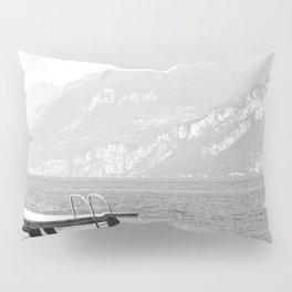 Swimming at lake Garda Italy Pillow Sham