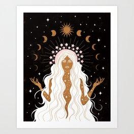 Summer Solstice Moon Goddess Art Print