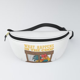 Chicken Coop Poultry Farmer design Farm Animal Chickens Fanny Pack