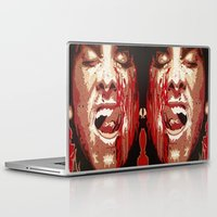 american psycho Laptop & iPad Skins featuring Psycho by Earl of Grey