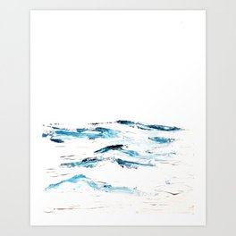 waves.mp4 Art Print