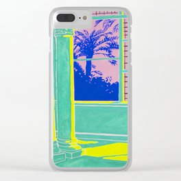 Sundown in the Long and Empty Hallway Clear iPhone Case