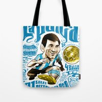 argentina Tote Bags featuring Pulga Argentina by Gonza Rodriguez