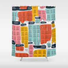 Cinque Terre Houses Shower Curtain