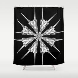 Ninja Star 7 Shower Curtain