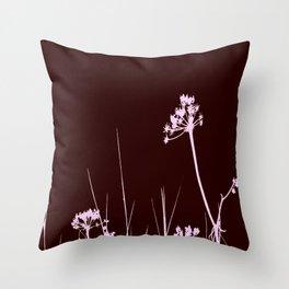 SEA PLANTS PURPURE&BROWN Throw Pillow