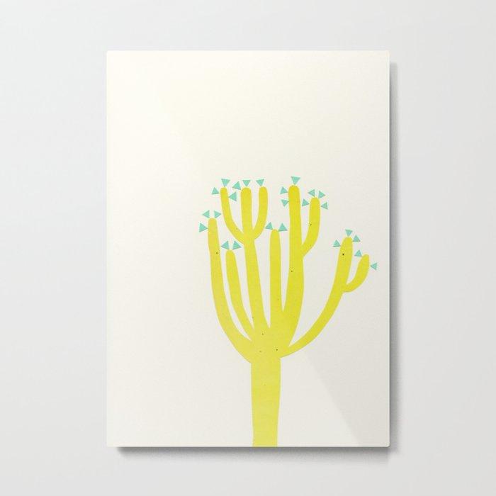Modern Cactus Metal Print