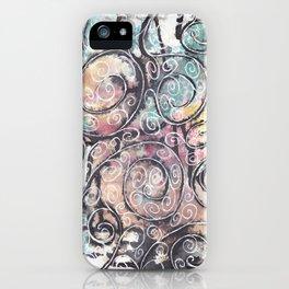 Sketchy Multicolor Swirls iPhone Case