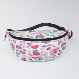 Lovely doodle drawing Valentine's Day gift Fanny Pack