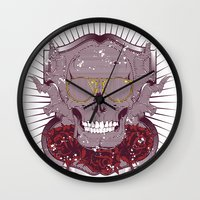 disco Wall Clocks featuring Disco by Tshirt-Factory