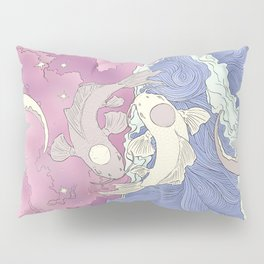 Moon and Ocean Spirts,Yin and Yang Pillow Sham