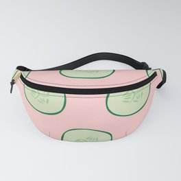 Bright Refreshing Summer Pink Cucumber Pattern Fanny Pack