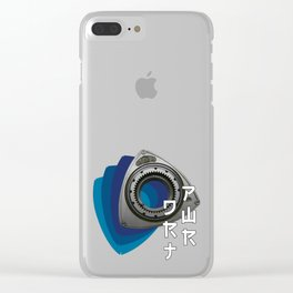 DRT-PWR Blue Clear iPhone Case