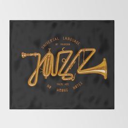 Jazz Trumpet Throw Blanket