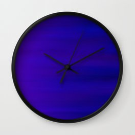 Ultra Violet to Indigo Blue Ombre Wall Clock