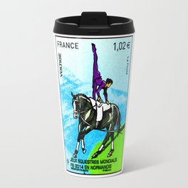 2014 FEI World Equestrian Games in Normandy VOLTIGE stamp Travel Mug