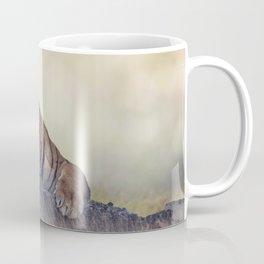 Bengal tiger resting on a rock Coffee Mug