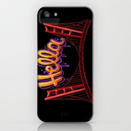 Hella - SF [Black] iPhone Case