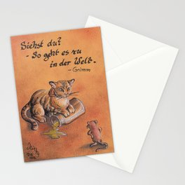 GrimmSeries2 - Cat and mouse Stationery Cards