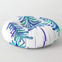 Pine Trees – Navy & Turquoise Palette Floor Pillow