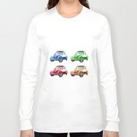 cars Long Sleeve T-shirts featuring cars beetles  by mark ashkenazi
